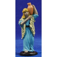 Pastor con jarra 9 cm barro pintado Figuralia