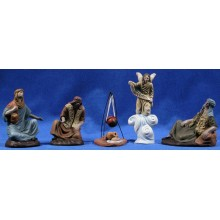 Anunciata 12 cm barro pintado Figuralia