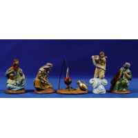 Anunciata 7 cm barro pintado Figuralia