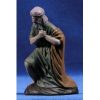 Pastor adorando 12 cm barro pintado Figuralia