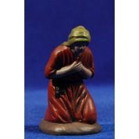 Pastora adorando 7 cm barro pintado Figuralia