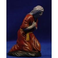 Pastora adorando 9 cm barro pintado Figuralia