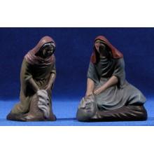 Pastora lavandera 12 cm barro pintado Figuralia