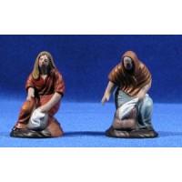 Pastora lavandera 7 cm barro pintado Figuralia