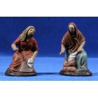 Pastora lavandera 9 cm barro pintado Figuralia