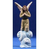 Ángel 16 cm barro pintado Figuralia