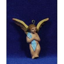 Ángel 9 cm barro pintado Figuralia