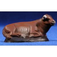 Buey 7 cm barro pintado Figuralia