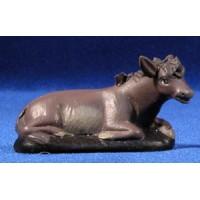 Mula 9 cm barro pintado Figuralia