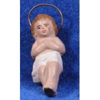 Niño Jesús 9 cm barro pintado Figuralia