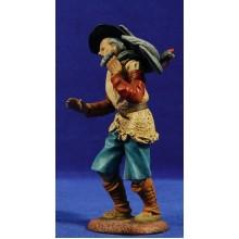 Pastor con pavo estilo Salzillo 16 cm barro pintado Cuenca