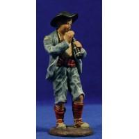 Pastor con clarinete estilo Salzillo 16 cm barro pintado Cuenca