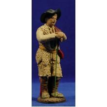 Pastor con bastón estilo Salzillo 16 cm barro pintado Cuenca