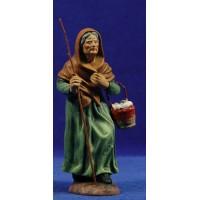 Pastora con cesto huevos estilo Salzillo 16 cm barro pintado Cuenca