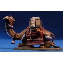 Camello cargado estirado 7 cm barro pintado Daniel
