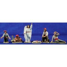 Anunciata catalana 8 cm barro pintado Delgado