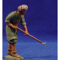 Pastor labrador hebreo 8 cm barro pintado Delgado