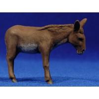 Mula de pie 8 cm barro pintado Delgado