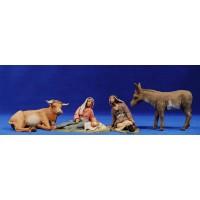 Nacimiento hebreo estirado 12 cm barro pintado Delgado