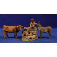 Nacimiento hebreo sentado con cordero 8 cm barro pintado Delgado