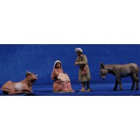 Nacimiento hebreo de pie 8 cm barro pintado Delgado