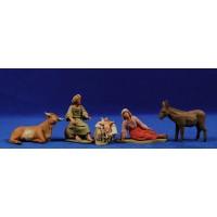 Nacimiento hebreo estirado 8 cm barro pintado Delgado