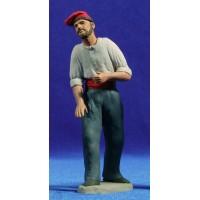 Pastor catalán 12 cm barro pintado Delgado