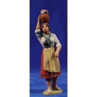 Pastora catalana con jarra 12 cm barro pintado Delgado