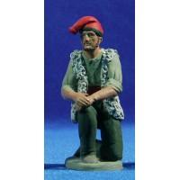 Pastor catalán adorando con samarra 12 cm barro pintado Delgado