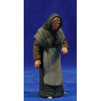 Pastora catalana vieja 12 cm barro pintado Delgado
