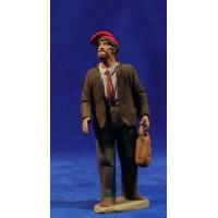 Pastor catalán con traje 12 cm barro pintado Delgado