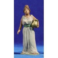 Pastora hebrea con jarra de oro 12 cm barro pintado Delgado