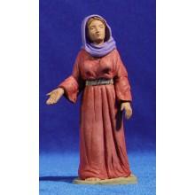 Pastora hebrea 12 cm barro pintado Delgado