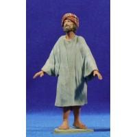 Pastor hebreo m2 12 cm barro pintado Delgado