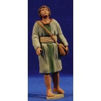 Pastor joven hebreo 12 cm barro pintado Delgado