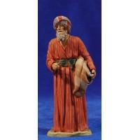 Pastor anciano hebreo 12 cm barro pintado Delgado