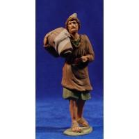 Pastor hebreo 12 cm barro pintado Delgado