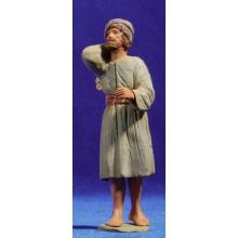 Pastor hebreo con leña 12 cm barro pintado Delgado