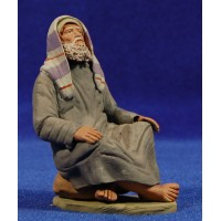 Pastor hebreo sentado 12 cm barro pintado Delgado
