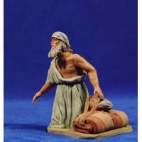 Pastor hebreo adorando 12 cm barro pintado Delgado