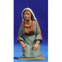 Pastora hebrea adorando 12 cm barro pintado Delgado