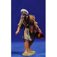 Pastor hebreo con jarra 12 cm barro pintado Delgado