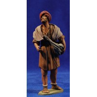 Pastor hebreo con bolsa 12 cm barro pintado Delgado