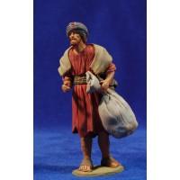 Pastor hebreo con saco 12 cm barro pintado Delgado