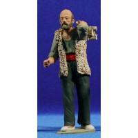 Pastor catalán con leña 15 cm barro pintado Delgado