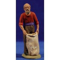 Pastor catalán con saco 15 cm barro pintado Delgado