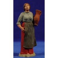 Pastora catalana con jarra 15 cm barro pintado Delgado