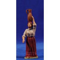 Pastora catalana con jarra 8 cm barro pintado Delgado