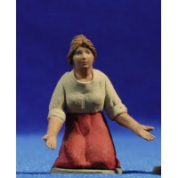 Pastora catalana adorando 8 cm barro pintado Delgado