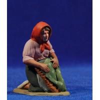 Pastora lavandera catalana 8 cm barro pintado Delgado